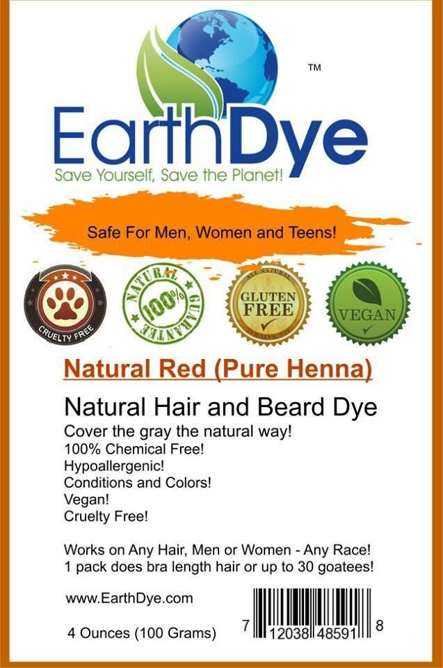 Natural Red Hair Beard Dye For All Hair Types Look Young Naturally